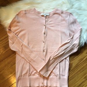 LOFT Sweaters - LOFT Pink Long Sleeve Cardigan